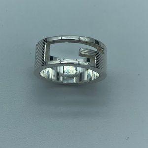 Gucci GG logo 925 silver ring